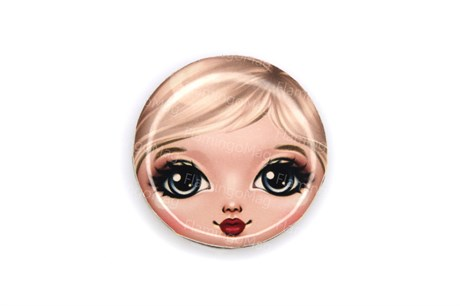 Лицо матрешки для броши, Нана - фото 13091