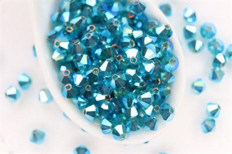 Биконусы Preciosa 4 мм,  Blue Zircon ABx2 - фото 13586