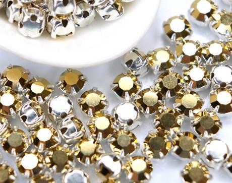 Шатоны 4 мм, Maxima Preciosa, Crystal DF Aur купить в Москве.