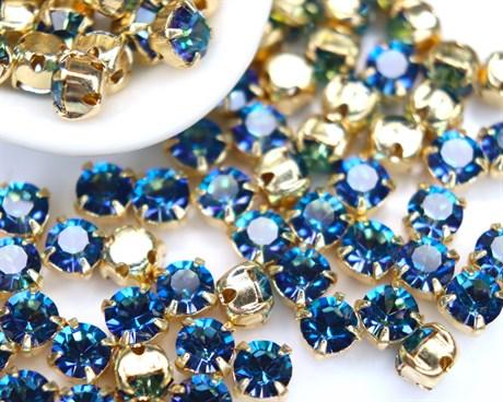 Шатоны 4 мм, Maxima Preciosa, Crystal Bermuda Blue купить в Москве.