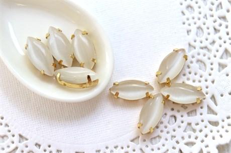 Шелковый кристалл 15*7 мм, Холодное молоко купить в Москве.