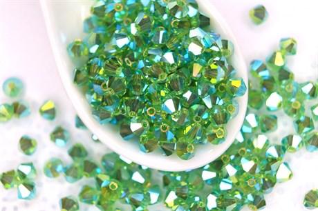 Биконусы Preciosa 4 мм, Peridot ABx2 - фото 16170