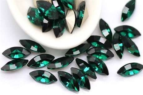 Preciosa Navette Maxima 10*5 мм - Emerald купить в Москве.