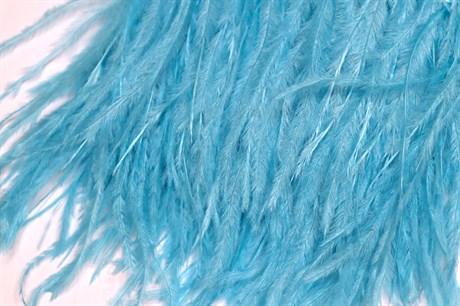 Перо страуса на ленте,  Aquamarine - фото 21288