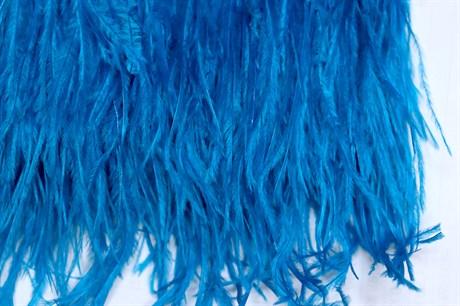 Перо страуса на ленте,  Blue Zircon - фото 21290