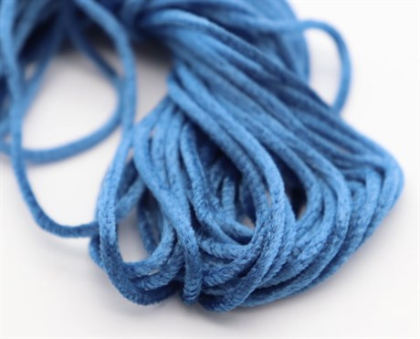 Французская синель Blue 84, 3 мм - фото 5011