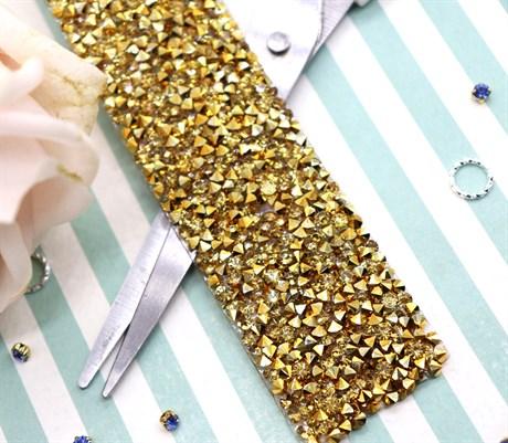 Кристальная лента Gold, 50*30 мм - фото 5906