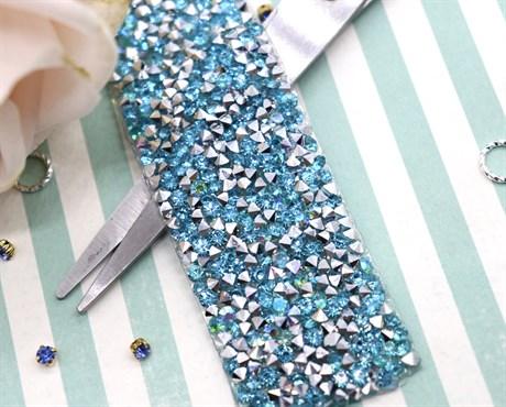 Кристальная лента Light Blue, 50*30 мм - фото 5908
