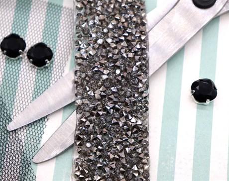 Кристальная лента Black, 50*30 мм - фото 5910
