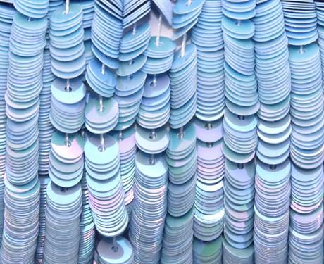 Пайетки радужный фарфор 5035, 4 мм - фото 5958