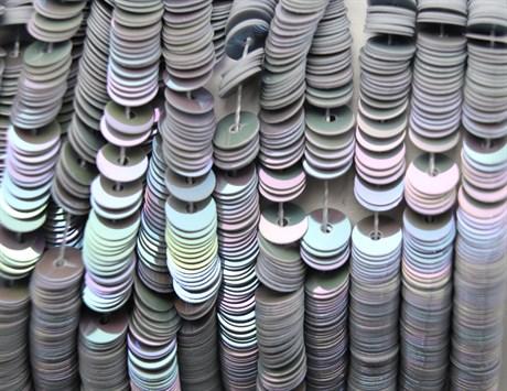 Пайетки радужный фарфор 5071, 4 мм - фото 5973