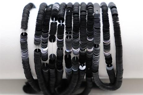 Пайетки фарфоровые Noir, 4 мм - фото 6054