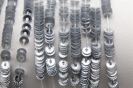 Пайетки рифленые Solul Argent, 3 мм - фото 6265
