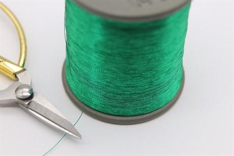 Металлизированная нить, Лесной Зеленый - фото 6293
