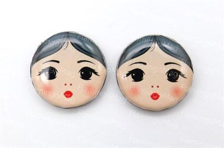Парные лица матрешек для серег, Лера - фото 6316