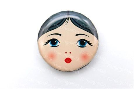 Лицо матрешки для броши, Русалина - фото 6336