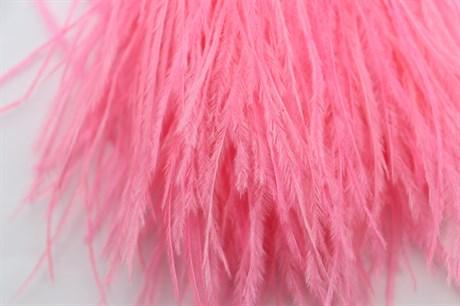 Перо страуса на ленте, Neon Pink - фото 7571