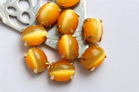 Шелковый кристалл 10*8 мм, Мериголд купить в Москве
