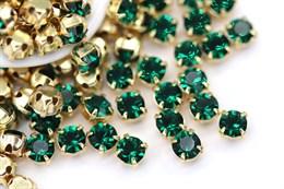 Шатоны 4 мм, Maxima Preciosa, Emerald