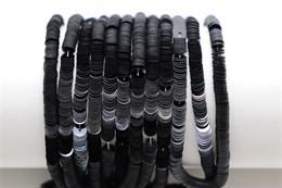Пайетки фарфоровые Noir, 3 мм