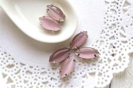 Шелковый кристалл 15*7 мм, Розовая пудра