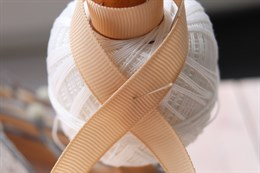 Репсовая лента 12 мм, Крем-брюле (№003)