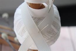 Репсовая лента 12 мм, Молочный (№002)