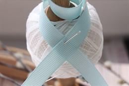 Репсовая лента 12 мм, Бело-голубой (№085)
