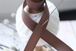 Репсовая лента 12 мм, Серо-коричневый (№121)