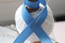 Репсовая лента 12 мм, Детский голубой (№098)