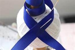Репсовая лента 12 мм, Синий кобальт (№101)