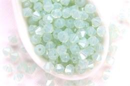 Биконусы Preciosa 4 мм, Chrysolite Opal
