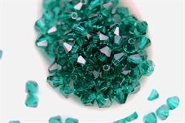 Биконусы Preciosa 4 мм, Emerald