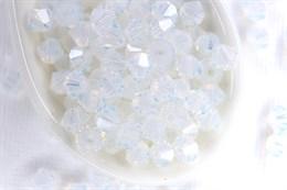 Биконусы Preciosa 4 мм, White Opal