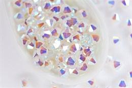 Биконусы Preciosa 4 мм, Crystal ABx2