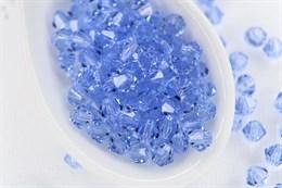 Биконусы Preciosa 4 мм, Light Sapphire