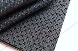 Искусственная кожа, Принт (Черный)