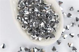Биконусы Preciosa 4 мм, Crystal Labrador Full