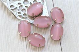 Шелковый кристалл 18*13 мм, Розовая пудра