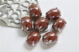 Перламутровый кристалл 10*14 мм, Шоколад