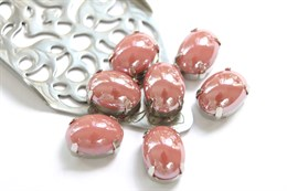 Перламутровый кристалл 10*14 мм, Розовая пудра