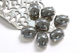 Перламутровый кристалл 10*14 мм, Графитно-черный