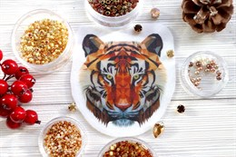 Шаблон тигра на фетре или батисте