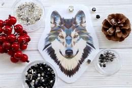 Шаблон волка на фетре или батисте