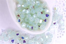 Биконусы Preciosa 4 мм, Chrysolite Opal AB