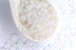 Биконусы Preciosa 3 мм, Crystal AB Matt