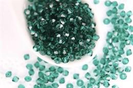 Биконусы Preciosa 3 мм, Emerald