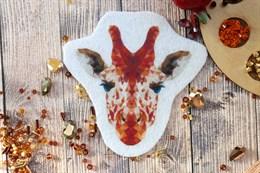 Шаблон жирафа на фетре или батисте