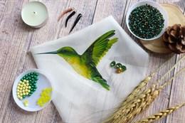 Шаблон колибри на фетре или батисте