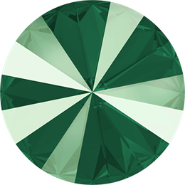 #1122 Rivoli 12mm -  Lacquer Royal Green (#001L109S)